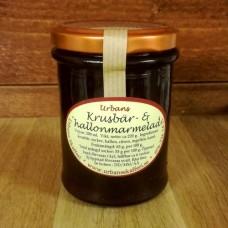 Krusbär- & hallonmarmelad, 200 ml.